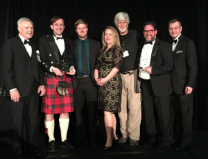 The Venema design team poses for a photo after receiving the ACEC award.